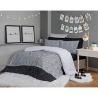 Christian Siriano® Matrix Twin XL Comforter Set in Black/White