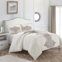 Nanshing Essex King Duvet Cover Set in White