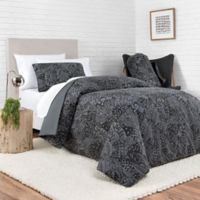 Laundry by SHELLI SEGAL® Cypress Reversible Full/Queen Comforter Set in Black