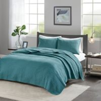 Madison Park Keaton King/Calfornia King Coverlet Set in Teal