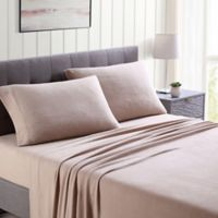 Morgan Home Ultra Plush Fleece Solid Queen Sheet Set in Taupe