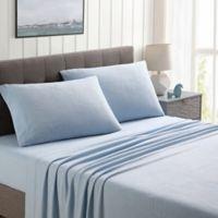 Morgan Home Ultra Plush Fleece Solid Queen Sheet Set in Blue