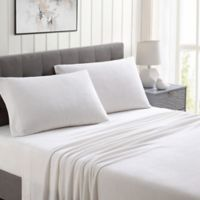 Morgan Home Ultra Plush Fleece Solid Queen Sheet Set in White
