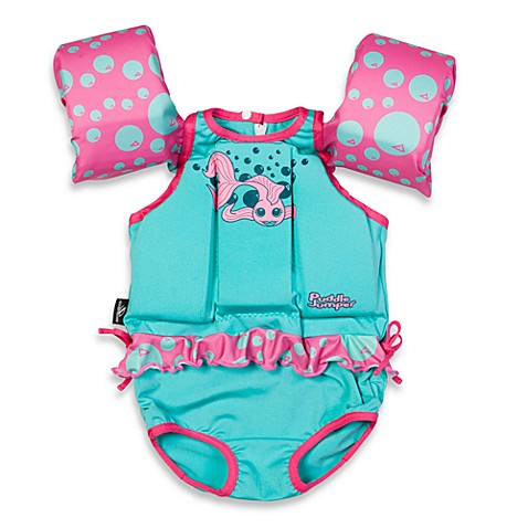 Stearns 174 Girl S Puddle Jumper 174 Suit In Turquoise Blue Pink