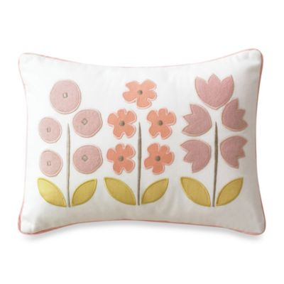 DwellStudio® Rosette Blossom Nursery Collection U003e DwellStudio® Rosette  Blossom Boudoir Pillow