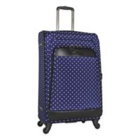 Kenneth Cole Reaction 28-Inch Spinner Checked Luggage in Navy Dot