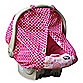 Padalily® Car Seat Canopy in Pink Ring Dot