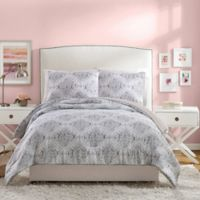 Jessica Simpson Ashby Reversible Twin/Twin XL Comforter Set in Grey