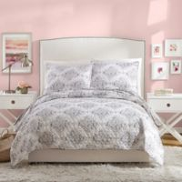Jessica Simpson Ashby Reversible Twin/Twin XL Quilt Set in Grey