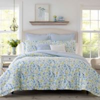 Laura Ashley® Nora King Comforter Bonus Set in Sun Blue
