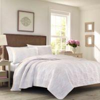 Laura Ashley® Belinda Full/Queen Reversible Quilt Set in Blush