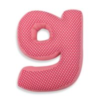 "One Grace Place Simplicity Letter ""G"" Pillow in Pink"