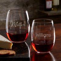 Classic Celebrations Personalized 21 oz. Stemless Wine Glass