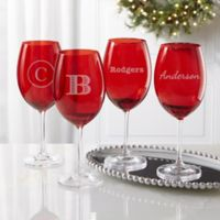 Christmas Celebrations Engraved Crystal Wine Glass