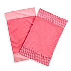 One Grace Place Simplicity Burp Cloths in Pink (Set of 2)