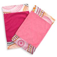 One Grace Place Sophia Lolita Burp Cloths in Pink (Set of 2)