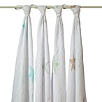 aden + anais® Classic 4-Pack Muslin Swaddles in Superstar Scout