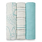 aden + anais® 3-Pack Muslin Swaddles in Azure