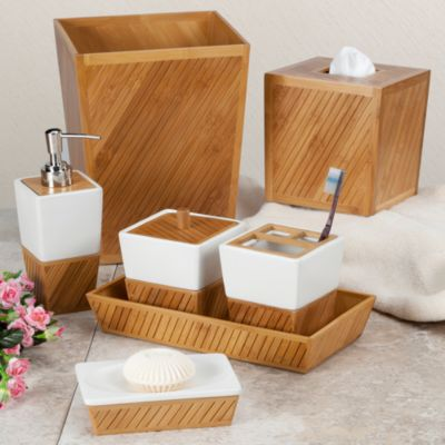Bathroom Accessories Bamboo buy spa bathroom accessories from bed bath & beyond