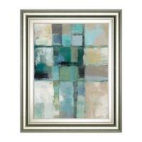 "Classy Art ""Island Hues Crop 2"" Framed Print Wall Art in Blue/Grey"