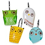 Give A Hoot Shower Curtain Hooks
