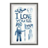 Marmont Hill Astronaut's Love 8-Inch x 12-Inch Framed Wall Art