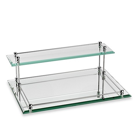 Taymor 174 Glass Two Tier Valet Tray Bed Bath Amp Beyond