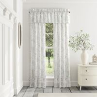 Piper & Wright Katelyn 84-Inch Rod Pocket Window Curtain Panel Pair in White