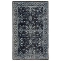 Jaipur Living Fayer 7'6 x 9'6 Indoor/Outdoor Area Rug in Blue/Black