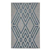 Nikki Chu Tasma Geometric 5' x 7'6 Indoor/Outdoor Area Rug in Grey/Blue