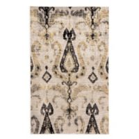 Jaipur Living Zenith Ikat 5' x 7'6 Indoor/Outdoor Area Rug in Grey/Yellow