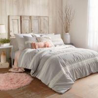 Peri Home Tufted Dot Stripe Full/Queen Comforter Set in Grey