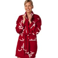 University of Alabama Extra Large Ladies Fleece Bathrobe in Crimson