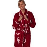 University of Oklahoma Large Ladies Fleece Bathrobe in Crimson