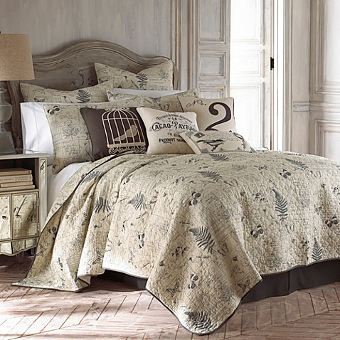 Bed Bath And Beyond French Script Bedding