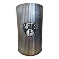 NBA Brooklyn Nets 7-Inch Indoor/Outdoor Metal Cylinder Vase