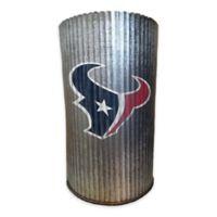 NFL Houston Texans 7-Inch Indoor/Outdoor Metal Cylinder Vase