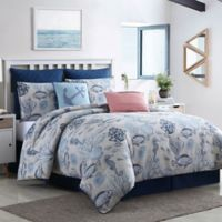 Deep Sea Collection 8-Piece Reversible King Comforter Set in Blue