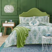 J. Queen New York™ Kayani Reversible Twin Coverlet in Teal
