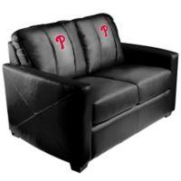 MLB Philadelphia Phillies Silver Loveseat with Alternate Logo