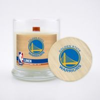NBA Golden State Warriors 8 oz. Linen Candle with Wood Lid