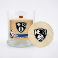 NBA Brooklyn Nets 8 oz. Linen Candle with Wood Lid