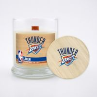 NBA Oklahoma City Thunder 8 oz. Linen Candle with Wood Lid