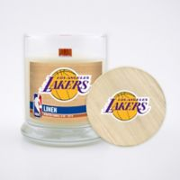 NBA Los Angeles Lakers 8 oz. Linen Candle with Wood Lid