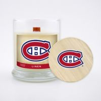NHL Montreal Canadiens 8 oz. Linen Candle with Wood Lid