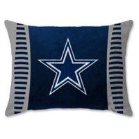 NFL Dallas Cowboys Side Bar Raschel Standard Bed Pillow