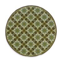 Oriental Weavers Caspian 7-Foot 10-Inch Round Indoor and Outdoor Rug in Green/Brown