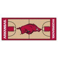 """University of Arkansas Basketball Court 72"""" x 30"""" Runner"""