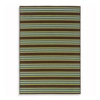 Oriental Weavers Caspian 1-Foot 9-Inch x 3-Foot 9-Inch Indoor/Outdoor Rug in Brown Stripe
