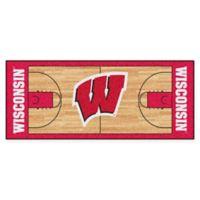 "University of Wisconsin Basketball Court 72"" x 30"" Runner"
